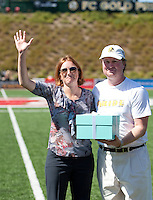 WPS Commissioner Tonya Antonucci and Brian NeSmith FC Gold Pride defeated the Philadelphia Independence 4-0 to win the 2010 WPS Championship at Pioneer Stadium in Hayward, California on September 26th, 2010.