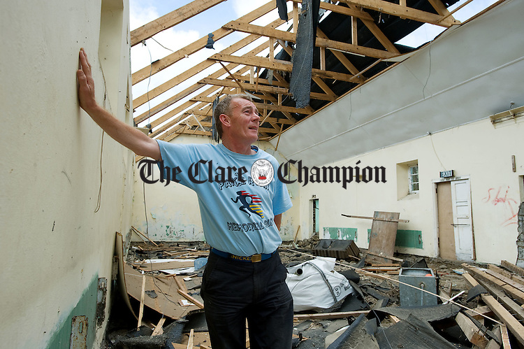 Local man Vincent Kelly who went to dances and played bingo at the old Marian hall in Cooraclare which is being demolished to make way for a new community playground. Photograph by John Kelly.