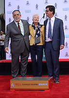 Francis Ford Coppola + wife Eleanor + son Roman Coppola @ his Hand & Foot Print ceremony held @the TCL Chinese theatre.<br /> April 29, 2016