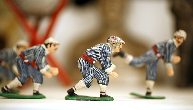 Baseball Collection 19th Century Double-Sided Lead Figures
