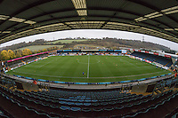 General view of Adams Park, home of Wycombe Wanderers Football Club ahead of the Sky Bet League 2 match between Wycombe Wanderers and Morecambe at Adams Park, High Wycombe, England on 12 November 2016. Photo by David Horn.
