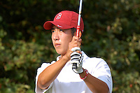 CHICAGO, IL - SEPTEMBER 19:  David Chung of the Stanford Cardinal during the Fighting Illini Invitational on September 19, 2009 at the Olympia Fields Country Club in Chicago, Illinois.