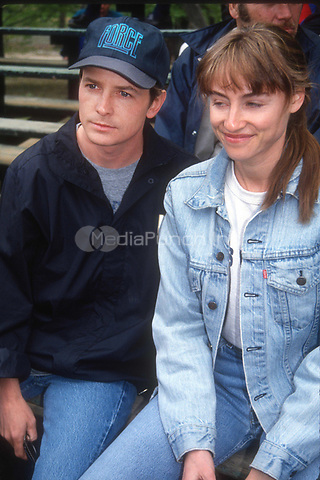 Michael J. Fox Tracy Pollan 1992<br /> Photo By John Barrett/PHOTOlink.net / MediaPunch