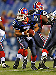28 August 2008:  Buffalo Bills' quarterback J.P. Losman looks to make a hand-off in the 4th quarter against the Detroit Lions at Ralph Wilson Stadium in Orchard Park, NY. The Lions defeated the Bills 14-6 in their fourth and final pre-season game...Mandatory Photo Credit: Ed Wolfstein Photo