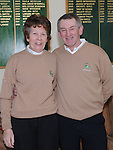 Captain Michael Lambe and lady captain Frances Stanley pictured at the Captain's Drive in at Seapoint golf club. Photo: Colin Bell/pressphotos.ie