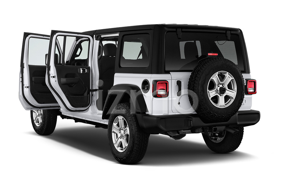 Car images close up view of a 2018 Jeep Wrangler Unlimited Sport 5 Door SUV doors