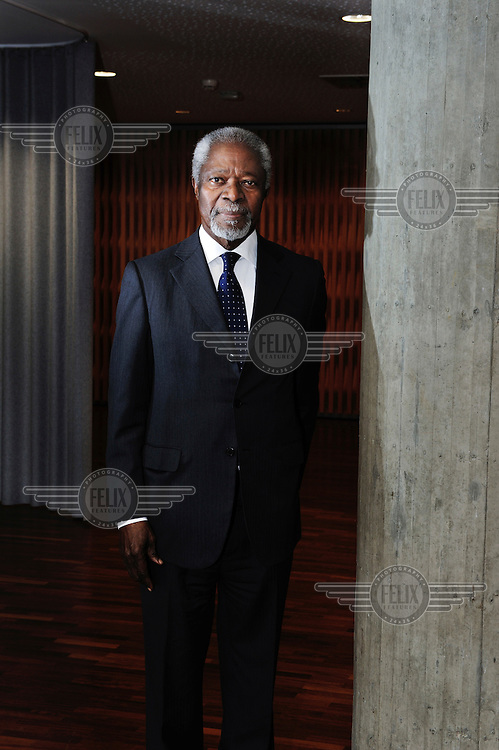 Kofi Annan, former Secretary General of the United Nations, photographed in Geneva, where his foundation, the Kofi Annan Foundation, is based.