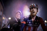 Stephen Hyde (USA/Cannondale-Cyclocrossworld) steaming a rainbow post-race<br /> <br /> men's race<br /> 44th Superprestige Diegem (BEL) 2018<br /> ©kramon