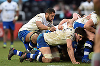 Taulupe Faletau of Bath Rugby in action at a scrum. Aviva Premiership match, between Harlequins and Bath Rugby on March 2, 2018 at the Twickenham Stoop in London, England. Photo by: Patrick Khachfe / Onside Images