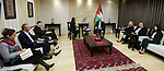 Palestinian Prime Minister, Rami Hamdallah, meets with Head of the International Council of MSF, Dr. Joan Liu, in the West Bank city of Ramallah, on January 30, 2019. Photo by Prime Minister Office