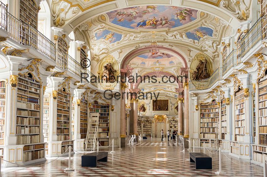 Austria, Styria, Admont: Admont Abbey, monastic library, the largest of the world   Oesterreich, Steiermark, Admont: Stift Admont, Stiftsbibliothek, groesste Klosterbibliothek der Welt