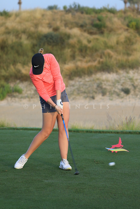 Gabriella Cowley (ENG) during the first round of the Fatima Bint Mubarak Ladies Open played at Saadiyat Beach Golf Club, Abu Dhabi, UAE. 10/01/2019<br /> Picture: Golffile | Phil Inglis<br /> <br /> All photo usage must carry mandatory copyright credit (© Golffile | Phil Inglis)