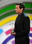 "Australian actor Hugh Jackman receives the ""Donostia award"" during the 61st San Sebastian Film Festival on September 27, 2013, Basque country. (Ander Gillenea / Bostok Photo)"