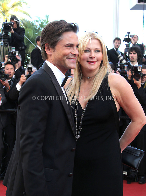 """WWW.ACEPIXS.COM . . . . .  ..... . . . . US SALES ONLY . . . . .....May 16 2011, Cannes....Rob Lowe and Sheryl Berkoff at the premiere of """"The Tree Of Life"""" at the Cannes Film Festival on May 16 2011 in Cannes, France....Please byline: FAMOUS-ACE PICTURES... . . . .  ....Ace Pictures, Inc:  ..Tel: (212) 243-8787..e-mail: info@acepixs.com..web: http://www.acepixs.com"""