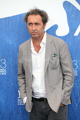 VENICE, ITALY - SEPTEMBER 03: Paolo Sorrentino attends the photocall of 'The Young Pope' during the 73rd Venice Film Festival at on September 3, 2016 in Venice, Italy. <br /> CAP/GOL<br /> &copy;GOL/Capital Pictures /MediaPunch ***NORTH AND SOUTH AMERICAS ONLY***