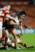 Male Sa'u contends with Jared Payne. Air New Zealand Cup rugby game between Waikato & Counties Manukau played at Rugby Park, Hamilton, on the 17th of August , 2007. Haltime 8 - 8. Fulltime Waikato 30 - Counties Manukau 8.