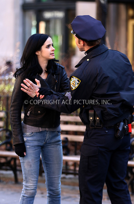 WWW.ACEPIXS.COM<br /> <br /> March 24 2015, New York City<br /> <br /> Actress Krysten Ritter was on the set of the new TV show 'AKA Jessica Jones' on March 24 2014 in New York City<br /> <br /> By Line: Zelig Shaul/ACE Pictures<br /> <br /> <br /> ACE Pictures, Inc.<br /> tel: 646 769 0430<br /> Email: info@acepixs.com<br /> www.acepixs.com