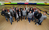 Pictured: Wednesday 15 November 2012<br /> Re: Swansea City FC players have played bowling at the Tenpin bowling alley at Parc Tawe, Swansea, south Wales.
