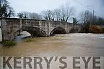 the bridge in Currow village was under serious pressure Sunday evening
