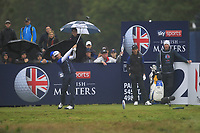 Wade Ormsby (AUS) on the 2nd tee during Round 4 of the Sky Sports British Masters at Walton Heath Golf Club in Tadworth, Surrey, England on Sunday 14th Oct 2018.<br /> Picture:  Thos Caffrey | Golffile<br /> <br /> All photo usage must carry mandatory copyright credit (&copy; Golffile | Thos Caffrey)