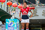 Players pose for official photocall during Captain's Photo Call prior to the IRB Women's Sevens Qualifier at Star Seafood Floating Restaurant on September 11, 2014 in Hong Kong, China. Photo by Aitor Alcalde / Power Sport Images