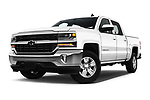 Stock pictures of low aggressive front three quarter view of 2017 Chevrolet Silverado-1500 LT-Crew 4 Door Pick-up Low Aggressive