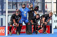 Leon Hayward during the Pro League Hockey match between the Blacksticks men and the Spain, Nga Punawai, Christchurch, New Zealand, Sunday 16 February 2020. Photo: Simon Watts/www.bwmedia.co.nz