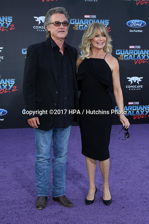 """LOS ANGELES - APR 19:  Kurt Russell, Goldie Hawn at the """"Guardians of the Galaxy Vol. 2"""" Los Angeles Premiere at the Dolby Theater on April 19, 2017 in Los Angeles, CA"""
