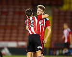 Ben Whiteman of Sheffield Utd celebrates his goal during the U23 Professional Development League match at Bramall Lane Stadium, Sheffield. Picture date: September 6th, 2016. Pic Simon Bellis/Sportimage