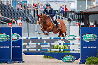 AUS-Andrew Hoy rides Vassily de Lassos during the Showjumping for the FEI World Team and Individual Eventing Championship. 2018 FEI World Equestrian Games Tryon. Monday 17 September. Copyright Photo: Libby Law Photography
