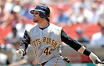 7 June 2007: Pittsburgh Pirates outfielder Ryan Doumit in action against the Washington Nationals at RFK Stadium in Washington, DC. The Pirates defeated the Nationals 3-2 in the third game of their 3-game series...Mandatory Credit: Ed Wolfstein Photo
