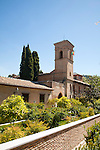 Parador hotel former convent of San Francisco, the Alhambra complex, Granada, Spain