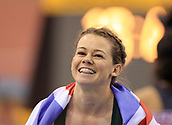 10th February 2019, Arena Birmingham, Birmingham, England; Spar British Athletics Indoor Championships; Hayley Mills shows her delight at winning the Women's 200m final during Day Two of the Spar Indoor Athletics Championships at Birmingham Arena