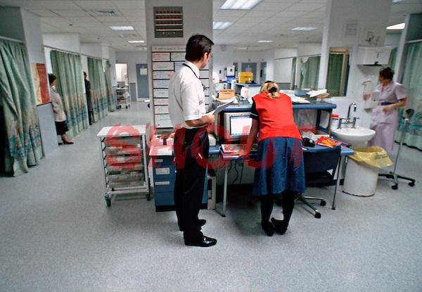 Doctors and Nurses working in an accident and emergency department of a hospital. This image may only be used to portray the subject in a positive manner..©shoutpictures.com..john@shoutpictures.com