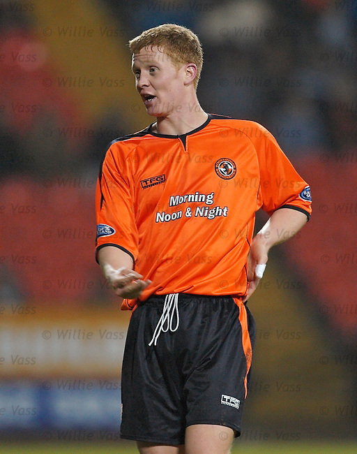 Barry Robson, Dundee Utd.stock season 2005-2006.pic willie vass