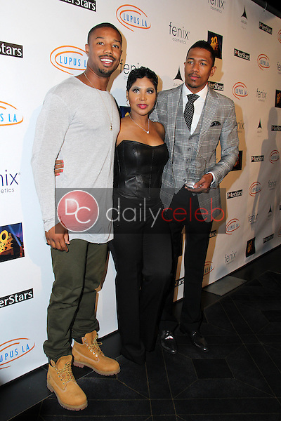 Michael B. Jordan, Toni Braxton, Nick Cannon<br /> Get Lucky For Lupus 6th Annual Poker Tournament, Avalon, Hollywood, CA 09-18-14<br /> David Edwards/DailyCeleb.com 818-249-4998