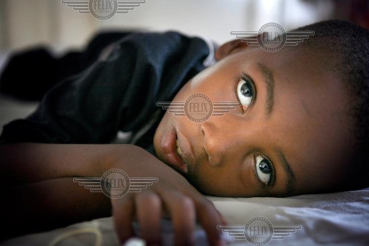 A child in the Temeke General Hospital in Dar Es Salaam.