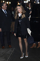 NEW YORK, NY - JANUARY 10: Sarah Jessica Parker  arrives at The Late Show With Stephen Colbert on January 10, 2018 in New York City. <br /> CAP/MPI99<br /> &copy;MPI99/Capital Pictures