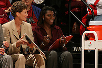 2 February 2008: Stanford Cardinal assistant coach Bobbie Kelsey during Stanford's 75-62 win against the UCLA Bruins at Maples Pavilion in Stanford, CA.