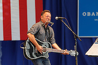 Rock legend Bruce Springsteen rallied support for President Barack Obama during a free concert held Tuesday afternoon at the nTelos Wireless Pavilion in Charlottesville, Va.