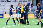 Stockholm 2014-04-27 Fotboll Allsvenskan Djurg&aring;rdens IF - IF Brommapojkarna :  <br /> Djurg&aring;rdens Amadou Jawo byts ut i den andra halvleken mot Djurg&aring;rdens Aleksandar Prijovic <br /> (Foto: Kenta J&ouml;nsson) Nyckelord:  Djurg&aring;rden DIF Tele2 Arena Brommapojkarna BP byte avbytare inhopp inhoppare