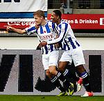 Nederland, Heerenveen, 4 november  2012.Eredivisie.Seizoen 2012-2013.Heerenveen-PEC Zwolle.Alfred Finnbogason van SC Heerenveen juicht na het scoren van de 1-0