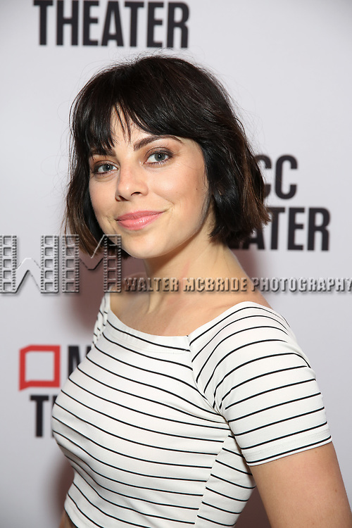 """Krysta Rodriguez attends the photo call for the cast and creative team of MCC Theater's New York Premiere of """"Seared"""" on September 11, 2019 at Artesia Wine Bar in New York City."""