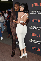 """SANTA MONICA, CA - AUGUST 27: Travis Scott and Kylie Jenner attend the Travis Scott: """"Look Mom I Can Fly"""" Los Angeles Premiere at The Barker Hanger on August 27, 2019 in Santa Monica, California.<br /> CAP/ROT/TM<br /> ©TM/ROT/Capital Pictures"""