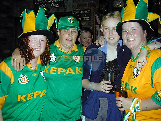 Denise Brannigan, Mary Farrell, Ciara Richardson and Catriona Richardson celebrating in The Huntsman on Sunday..Picture Paul Mohan Newsfile