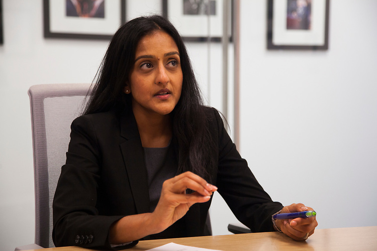 UNITED STATES - APRIL 26: Vanita Gupta is interviewed by CQ Roll Call, April 26, 2017. (Photo by Thomas McKinless/CQ Roll Call).