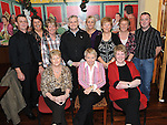 Organizers of the Collon Senior citizens christmas party in Watters lounge, Richie Gradwell, Mary Rafferty, Mary Martin, Martin McGuinness, Jackie Loughran, Eileen Browne, Anne Meade, Rosaleen Collier, Gerard Corrigan, Yvonne Quaile. Photo: Colin Bell/pressphotos.ie