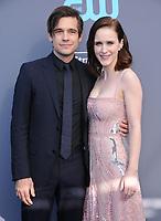 11 January 2018 - Santa Monica, California - Jason Ralph, Rachel Brosnahan. 23rd Annual Critics' Choice Awards held at Barker Hangar. <br /> CAP/ADM/BT<br /> &copy;BT/ADM/Capital Pictures