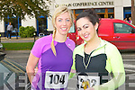 Deirdre Frost and Annita Vaughan enjoying the Mini-Marathon at the Brandon hotel, Tralee on Sunday.