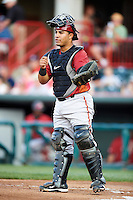Altoona Curve catcher Ramon Cabrera #38 during an Eastern League game against the Erie Seawolves at Jerry Uht Park on August 31, 2012 in Erie, Pennsylvania.  Altoona defeated Erie 4-3.  (Mike Janes/Four Seam Images)